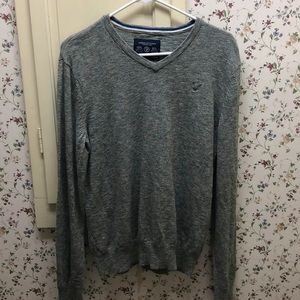 Grey V neck American Eagle outfitters sweater